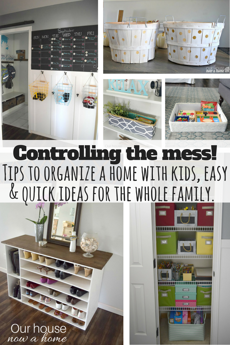Easy tips & DIY ideas to keep the whole family organized