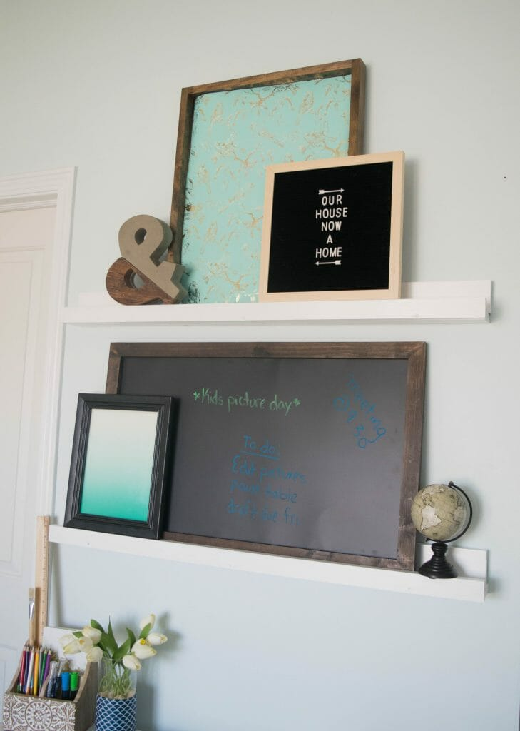 DIY picture ledge tutorial