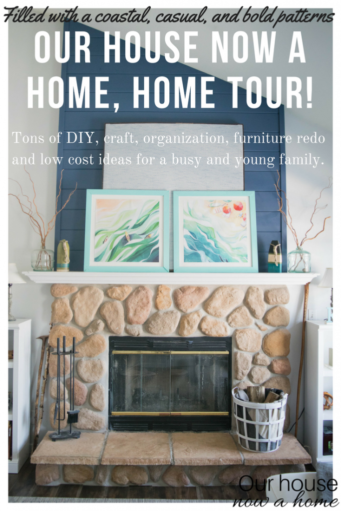 Our house now a home, home tour! Rustic, coastal, casual, modern and bright home decor style.
