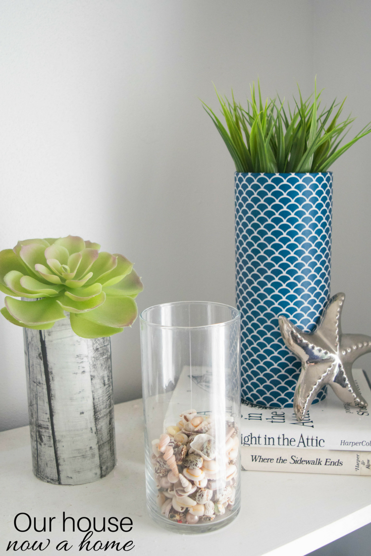 Simple decorating ideas our house now a home using the same vases and even leaving the rustic wood paper i added some bright greenery and other flowers to transition this from christmas to decor that reviewsmspy