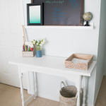 How to turn a narrow table into a desk, DIY desk upcycle