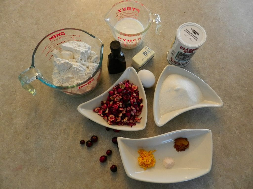 easy cranberry muffin bread ingredients