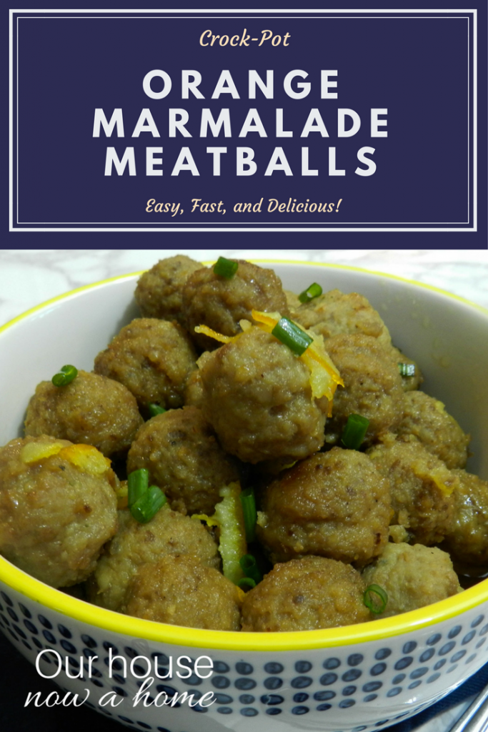 crock-pot orange marmalade meatballs