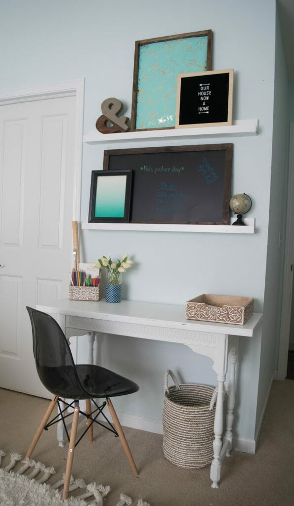 how to add a smal desk to a master bedroom