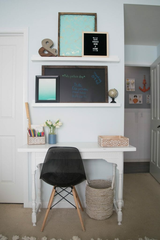 Creating an office space in a bedroom adding function - Creating a small home office ...