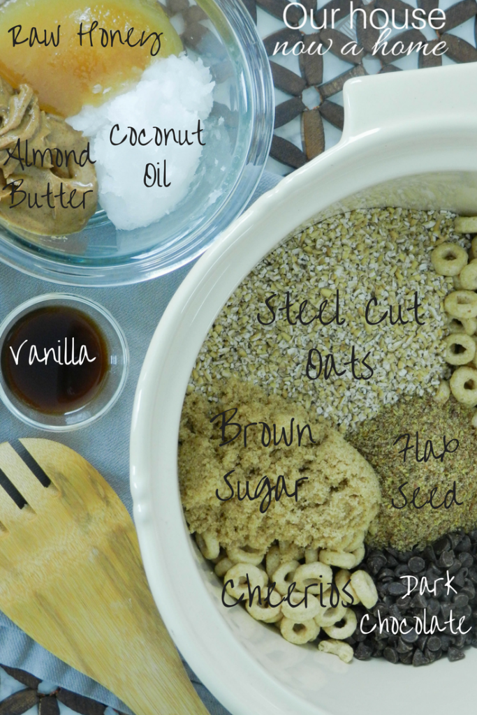 no-bake granola bar ingredients
