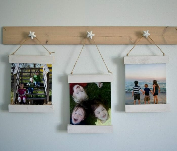 Easy to change wall art display with magnet frame