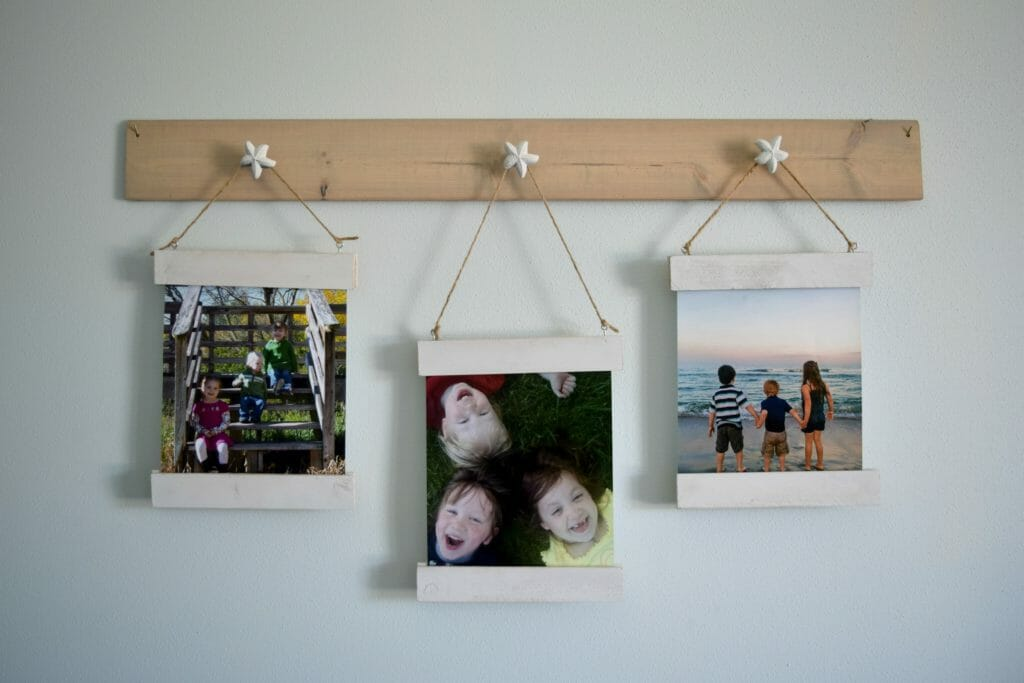 Easy to change wall art display with magnet frame • Our House Now a Home