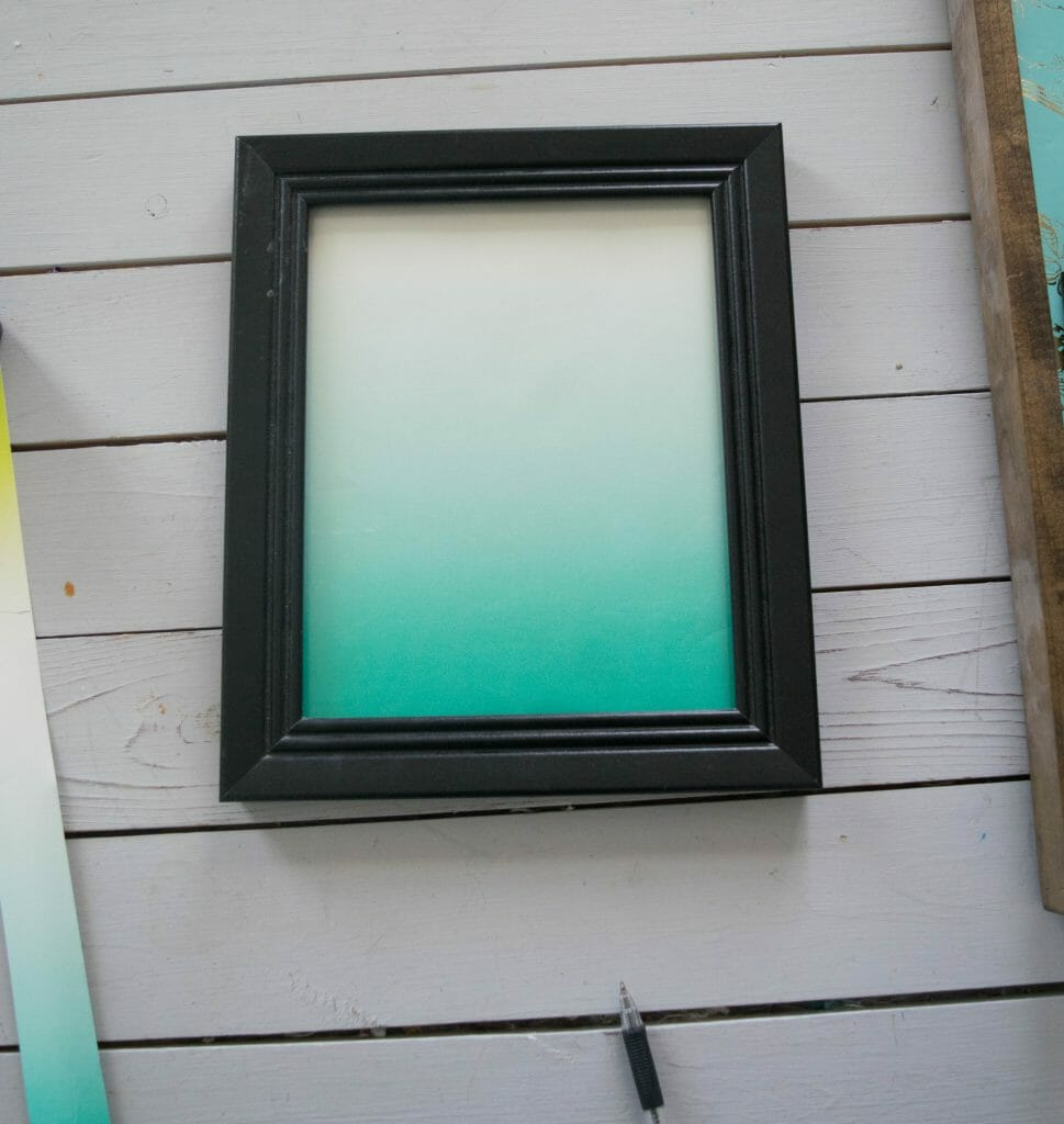 simple picture frame project with wrapping paper