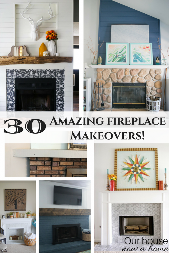 30 amazing fireplace makeovers. DIY projects with rustic, bold, modern, contemporary, craftsman, farmhouse and elegant fireplace styles.