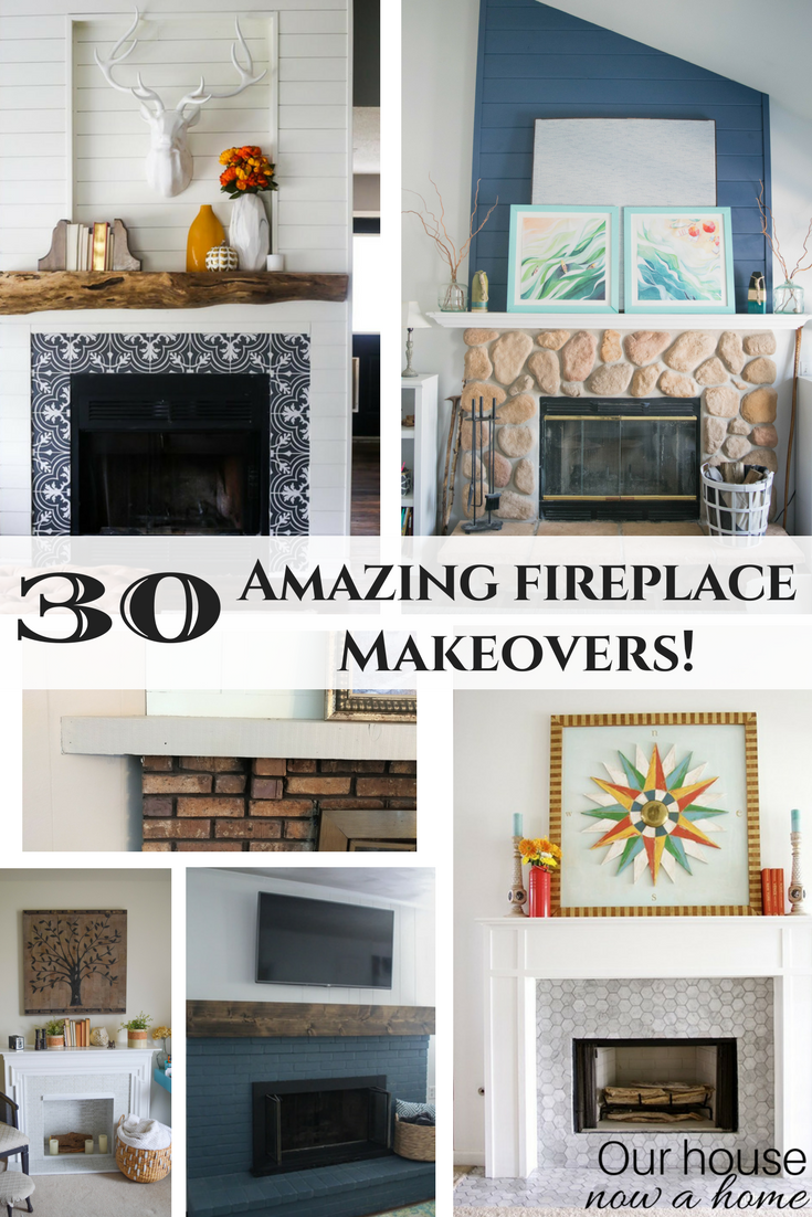 30 Amazing Fireplace Makeovers Diy Projects With Rustic Bold Modern Contemporary