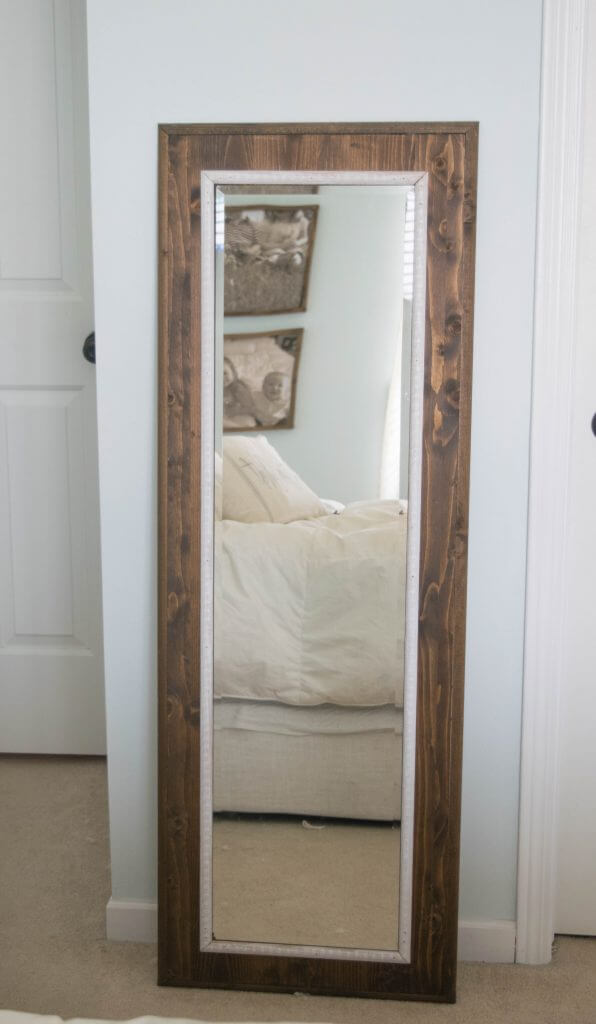 Easy to make DIY mirror frame • Our House Now a Home