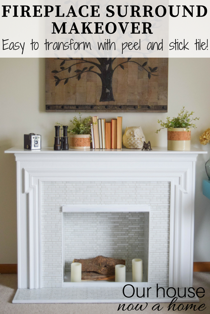 Easy Fireplace Surround Makeover L And Stick Tile Furniture Transformation