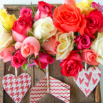 Valentines day dinner for two easy tablescape and craft idea
