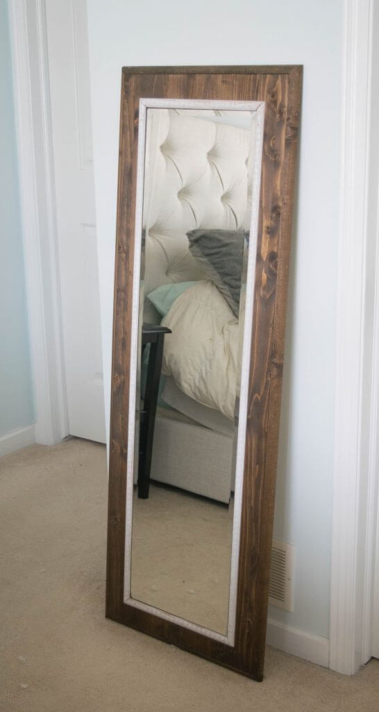 how to make an easy mirror frame
