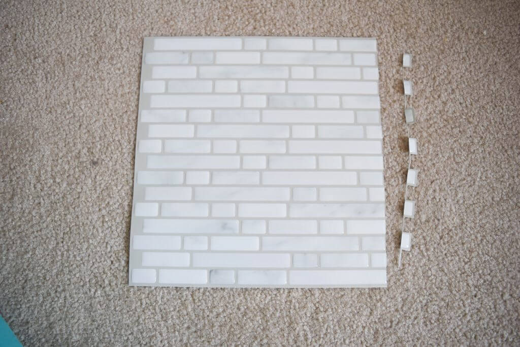 Easy Peel And Stick Tile Fireplace Surround Makeover