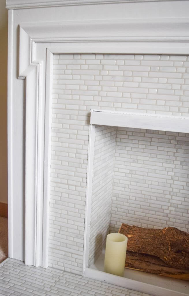 It Is Insane How Realistic The Tile Looks. We Have Done A Lot Of Tile Work  In Our Home And This Fireplace Looks Just Like All Of The Other Tile Work.