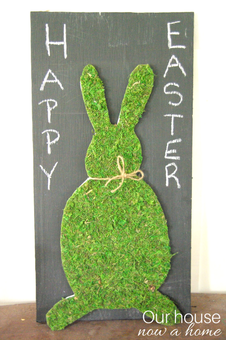 Easy to make Easter craft – moss bunny