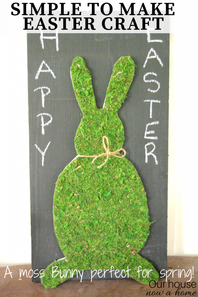 Simple Easter craft, making a moss Bunny that is perfectly Spring.