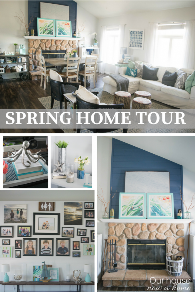 Spring home tour, top home decor bloggers share their home. DIY, craft, low cost and simple decorating.
