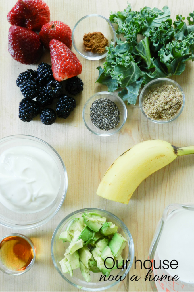 Superfood Fruit Smoothie Bowl ingredients