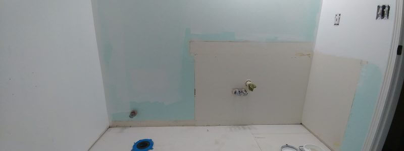 Unexpected bathroom renovation after water damage
