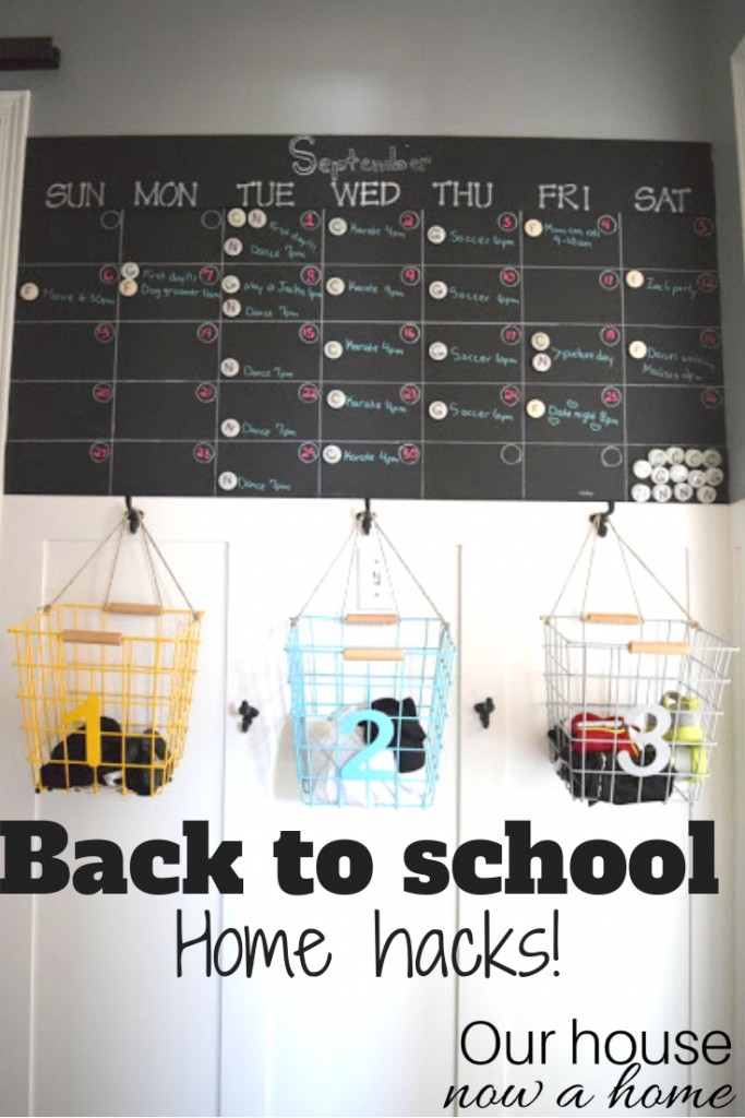 Back to school home hacks, Our house now a home,