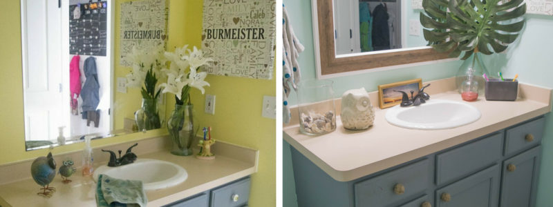 Easy bathroom refresh, simple makeover ideas