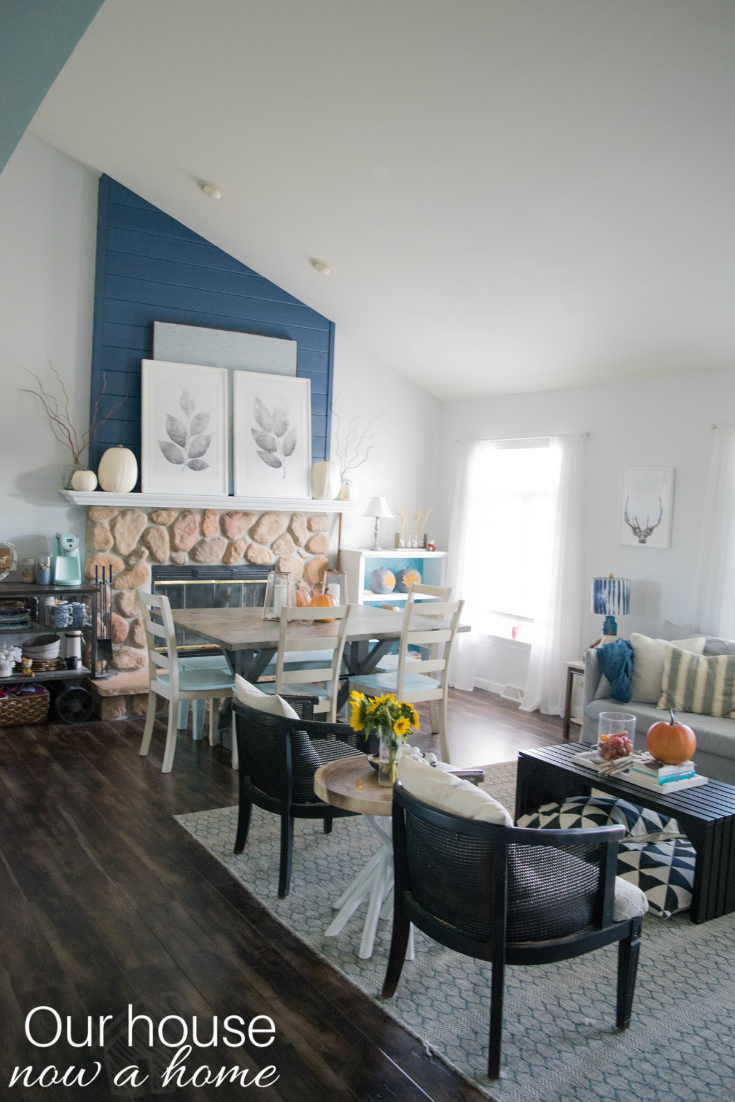Beautiful fall living room! Rustic, low cost, simple, easy ...