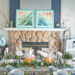 Bold, colorful & nature inspired Spring tablescape