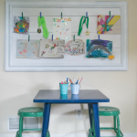 Easy DIY kids art display, picture frame upcycle