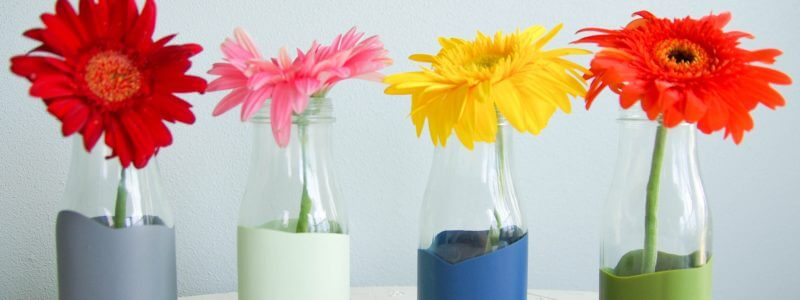 Paint dipped vase upcycle