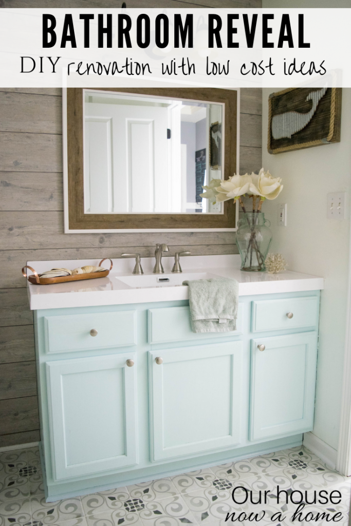 Easy to make bathroom updates. DIY Bathroom renovation reveal