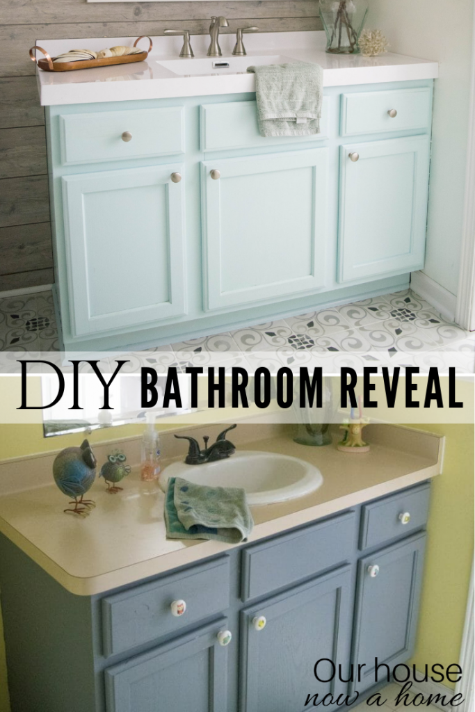 Easy to make bathroom updates. DIY Bathroom renovation reveal (3)