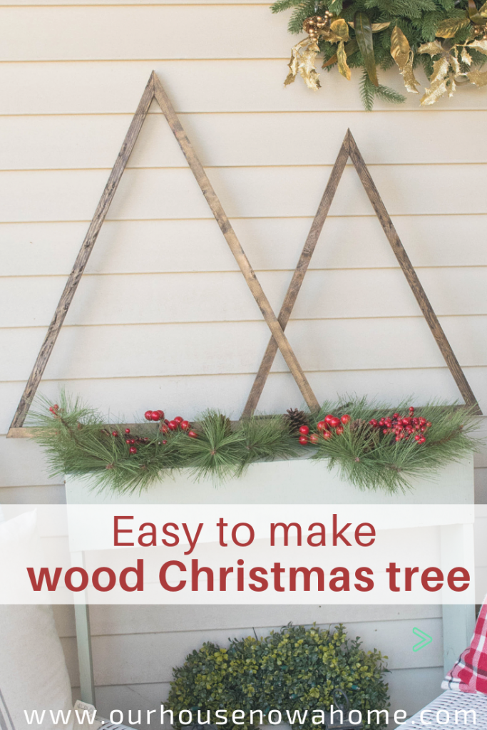 Easy to make wood Christmas tree decor