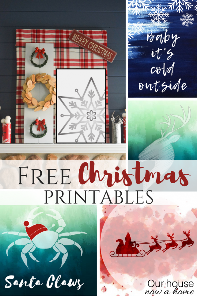 Free and instant download Christmas printables. Low cost wall art ideas!