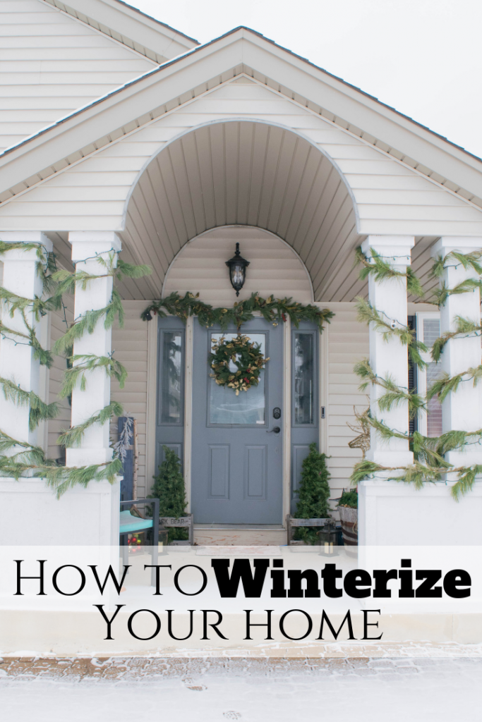 How to winterize your home. Tips, home maintenance ideas and check list to keep a home safe all year long.