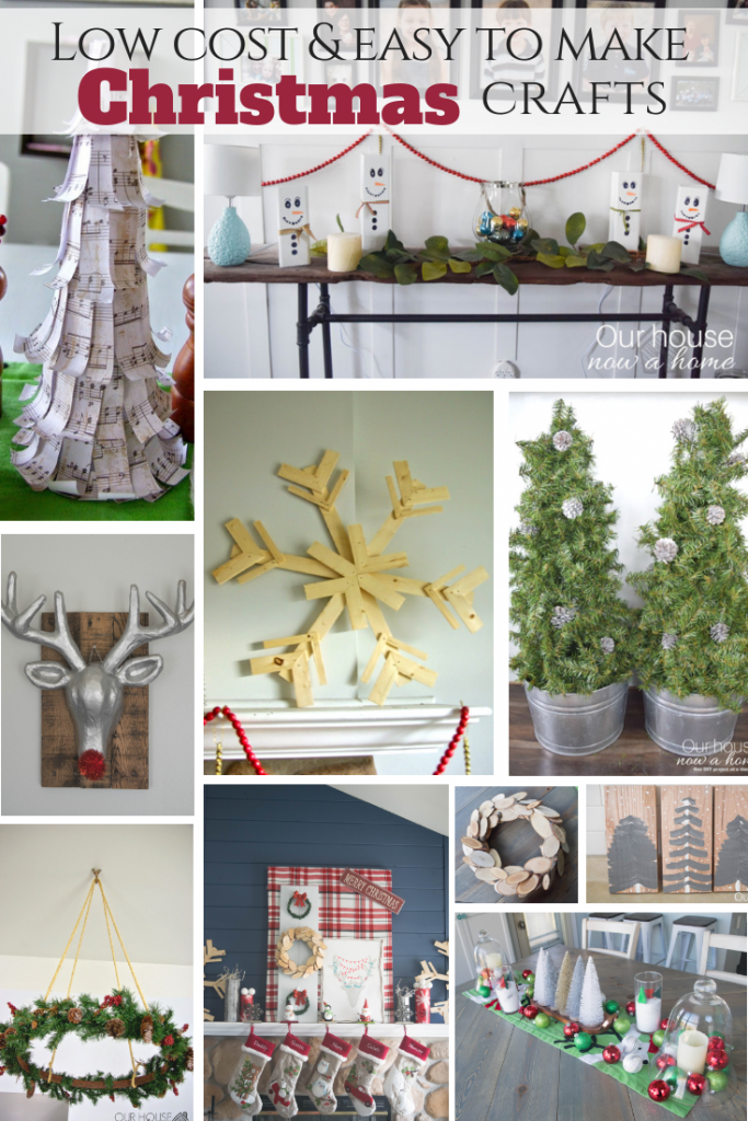 How to decorate for Christmas with low cost ideas. 25 easy to make crafts to decorate for the holiday season!