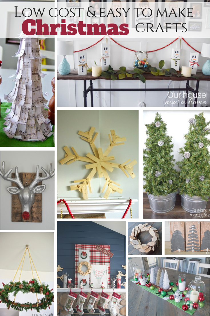 How to decorate for Christmas with low cost ideas. 25 easy to make crafts to