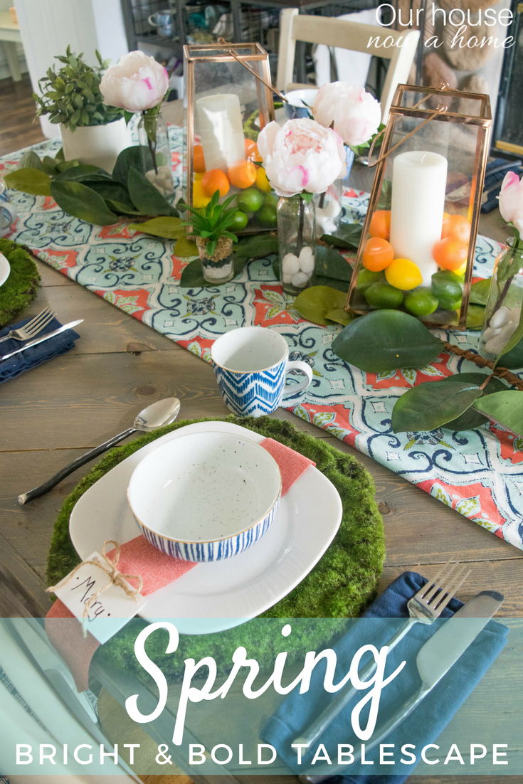 How To Make A Bold And Bright Spring Tablescape
