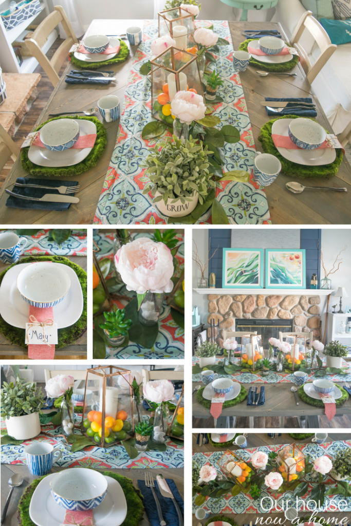 How to make a simple, bold, colorful and bright Spring tablescape.