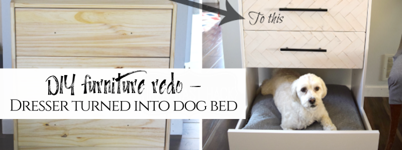 IKEA Hack – Dresser turned dog bed