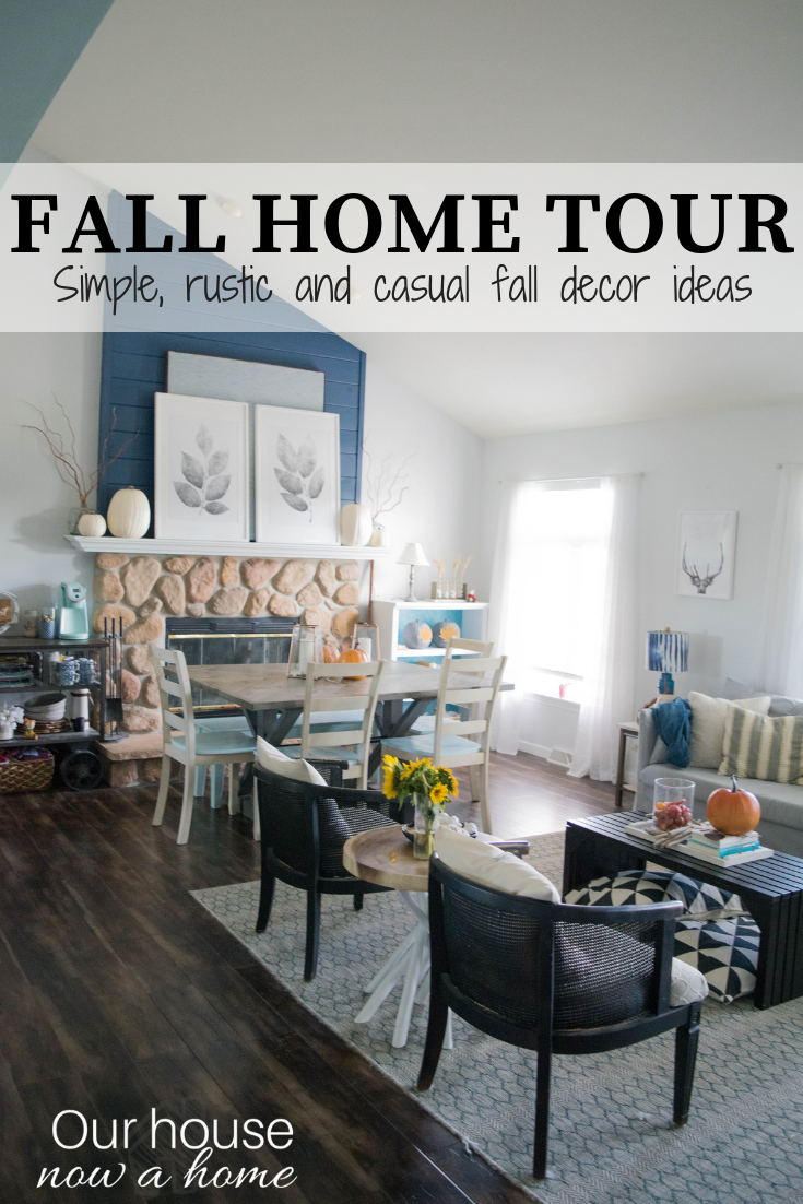 Simple, rustic, casual, DIY, craft and low cost Fall Home Tour. This ...