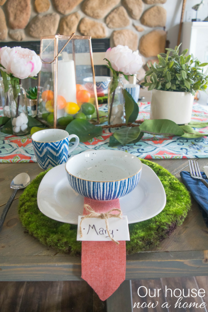 Simple to make spring place setting