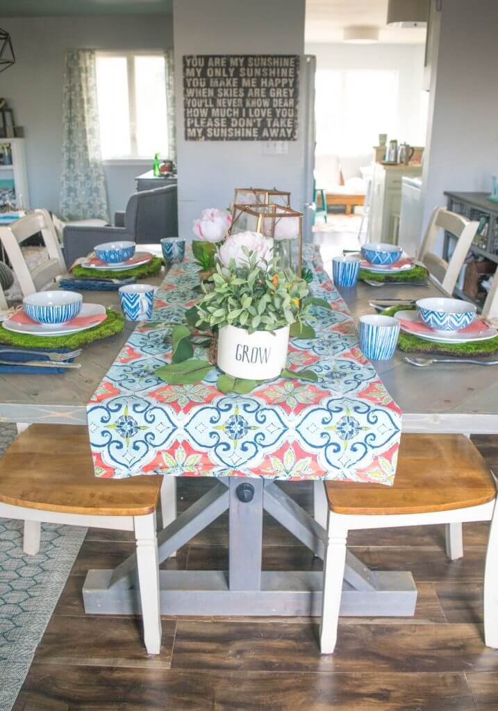 Spring dining room decor
