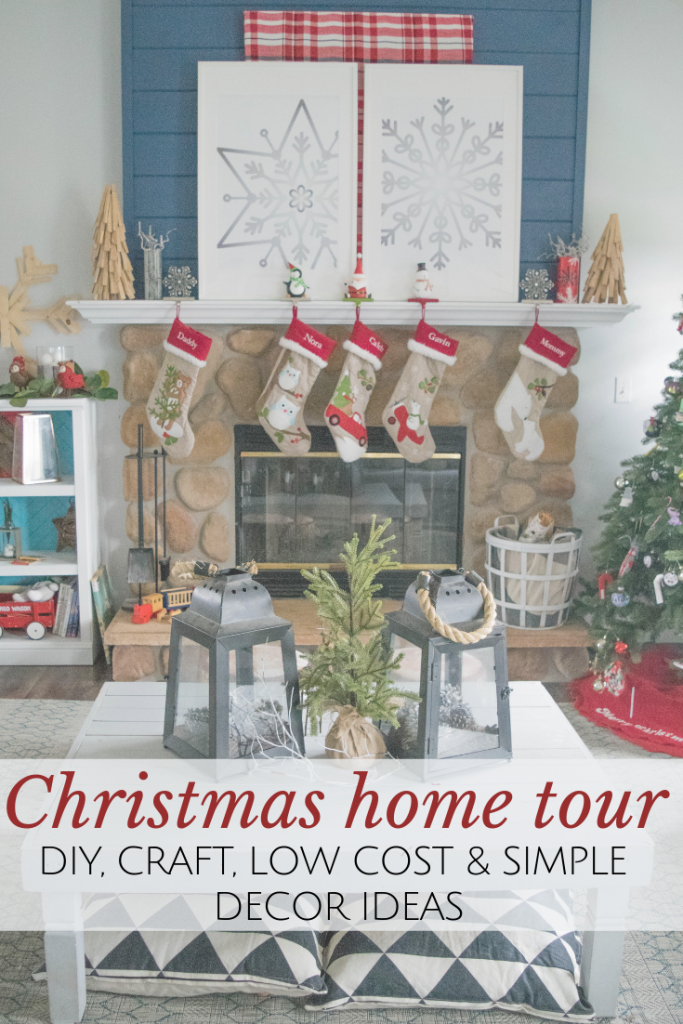 Christmas home tour. 25 home decor bloggers share their DIY projects, crafts, low cost and simple ideas tto decorate a home for the holidays.