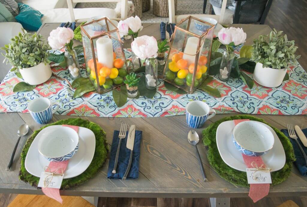 easy to make spring tablescape