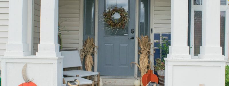 Fall front porch reveal