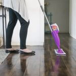 The secret to sparkling wood and tile floors!