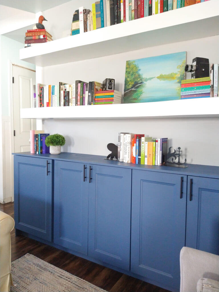ikea cabinets in sitting room